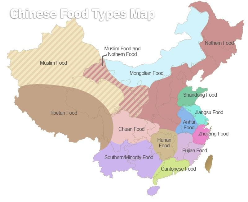 Chinese food types map